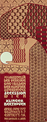 Klimt Drawing - Poster For The 14th Exhibition Of Vienna Secession, 1902 by Alfred Roller
