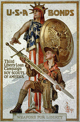 Patriotism Painting - Poster Liberty Loan, 1917 by Granger