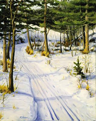 Park Scene Painting - Pot Hole Trail St Croix River by Rick Hansen
