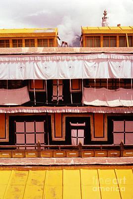 Tibetan Buddhism Photograph - Potala Palace Rooftop - Lhasa Tibet by Anna Lisa Yoder