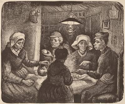 Potato Drawing - Potato Eaters by Vincent van Gogh