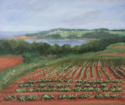 Potato Fields Original by Lorraine Vatcher