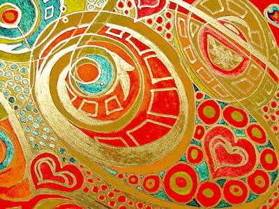 Abstract Movement Mixed Media - Potentials Of Loving Heart by Sheree Kennedy