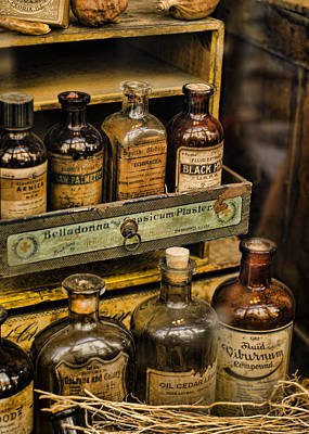 Mortar And Pestle Photograph - Potions And Cure Alls by Heather Applegate