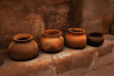 Burned Clay Photograph - Pots ... by Chuck Caramella