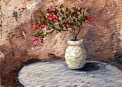 Old Vase Painting - Potted Fuchsia by Darice Machel McGuire