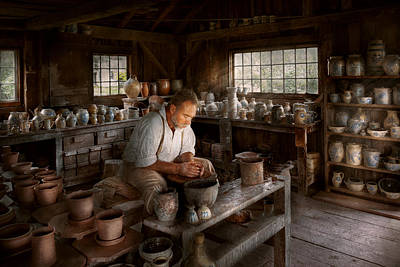 Wooden Ware Photograph - Potter - Raised In The Clay by Mike Savad