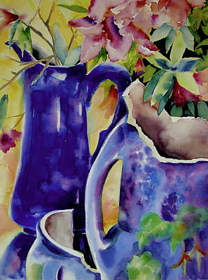 Painting - Pottery And Flowers by Julianne Felton