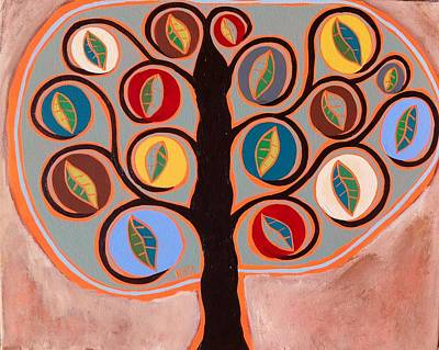 Mexican Painting - Pottery Tree Of Life by Kerri Ambrosino GALLERY