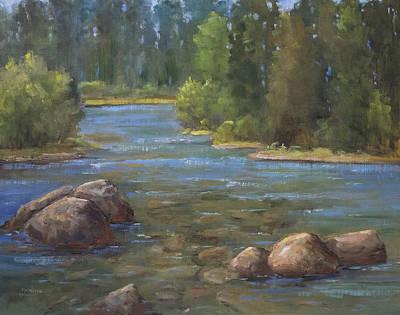 Poudre River  Print by Bonnie Bowne