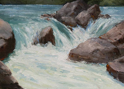 Poudre River Froth Print by Bonnie Bowne