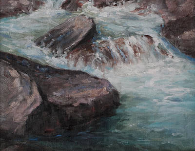 Poudre River Rapids Print by Bonnie Bowne
