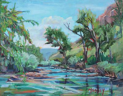 Poudre River Run  Plein Air Print by Marie Massey