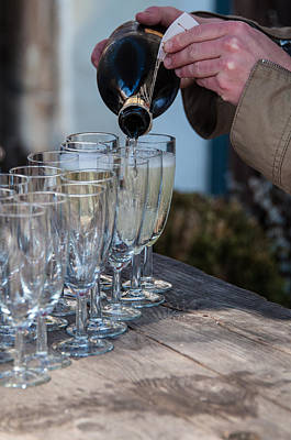 Pouring Champagne Print by Frank Gaertner