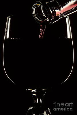 Images Of Wine Bottles Photograph - Pouring Wine by Cyril Furlan