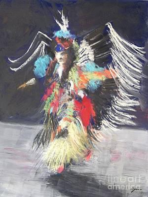 Dance Painting - Pow Wow 2 by Yoshiko Mishina