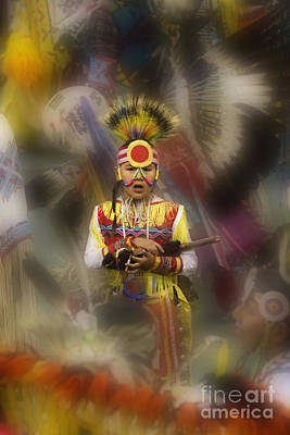 Pow Wow Among The Elders Print by Bob Christopher