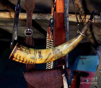 Scrimshaw Photograph - Powder Horn by John Langdon
