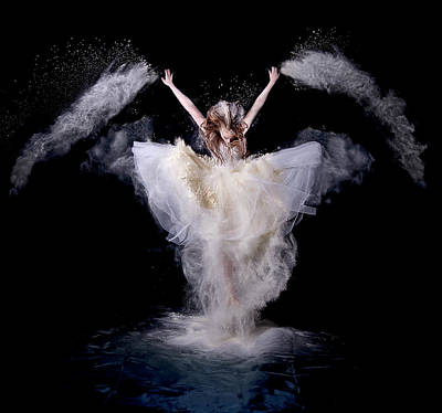 Dance Studio Photograph - Powder Rush by Pauline Pentony Ba