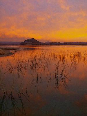Southwest Digital Art - Powell Sunrise 1 by David Hansen