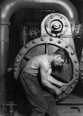 Sweating Photograph - Power House Mechanic 1920 by Mountain Dreams