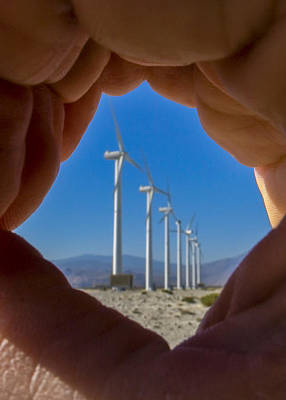 Palm Springs Photograph - Power In The Hand by Scott Campbell