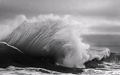 Coast Photograph - Power In The Wave Bw By Denise Dube by Denise Dube