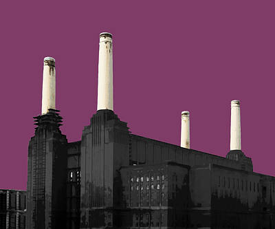 London Mixed Media - Power - Purple Reign by Big Fat Arts