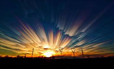Merging Digital Art - Power Source by Matt Molloy