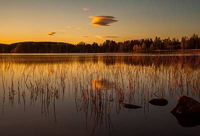 Sunset In Norway Photograph - Powerful Peace by Rose-Maries Pictures