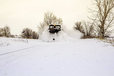 Train In The Winter Photograph - Powerful Train Plow by Nick Mares