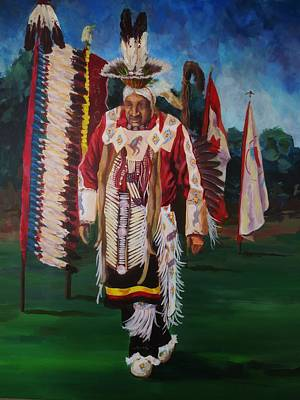 First Tribes Painting - Powwow Elder by Kathy Kucia