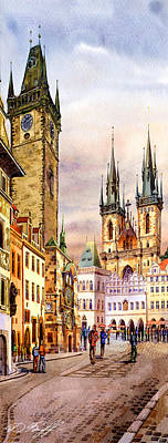 Prague Digital Art - Prague Astronomic Clock  by Dmitry Koptevskiy