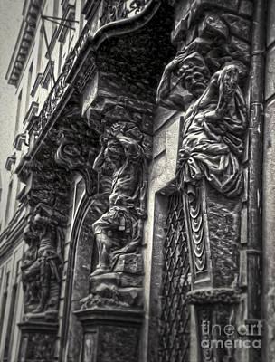 Prague Caryatids Print by Gregory Dyer