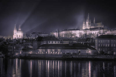 Prague Castle And St Nicholas Original by Joan Carroll