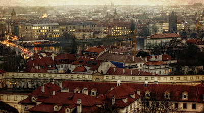 Charles Bridge Photograph - Prague Dusk by Joan Carroll