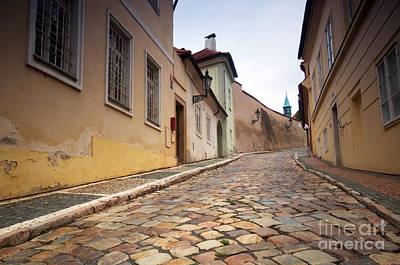 Pavement Photograph - Prague by Michal Bednarek