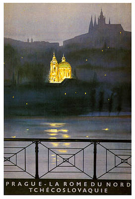 Prague Print by Georgia Fowler