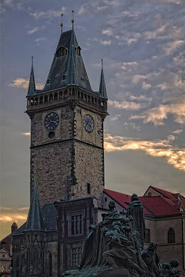 Architecture Photograph - Prague Old Town Hall by Joan Carroll