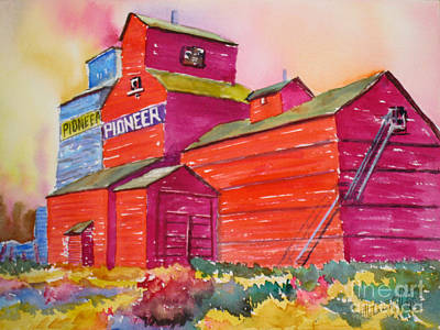 Historic Home Painting - Prairie Sentinel by Mohamed Hirji