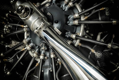 Pratt And Whitney Wasp C 9-cylinder Radial Engines Print by Todd and candice Dailey
