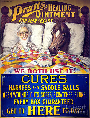 Pratts Healing Ointment Print by Science Source