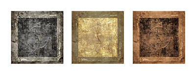 Prayer Flag Triptych Series Two Print by Carol Leigh