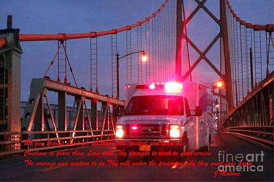Christian Art . Devotional Art Photograph - Prayer For Emergency Health Care First Responders by John Malone