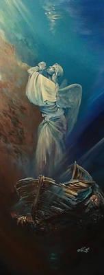 Prayer For The Seas Original by Ottilia Zakany