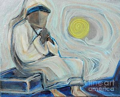 Devotional Painting - Prayer by L Cecka