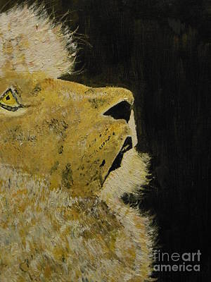 Harold Greer Painting - Prayer Lion by Harold Greer