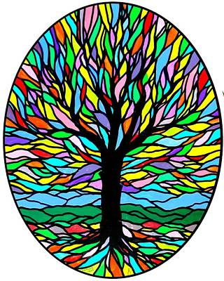 Tree Roots Painting - Prayer Tree by Jim Harris