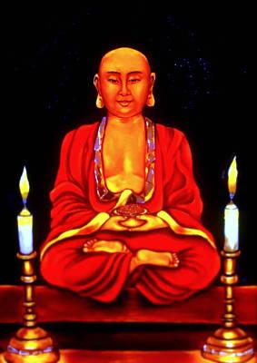 Buddha Painting - Praying Buddha by Carmen Cordova
