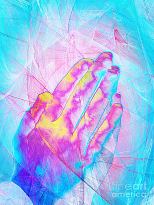 Catholicism Digital Art - Praying Hands 20150302v1 by Wingsdomain Art and Photography
